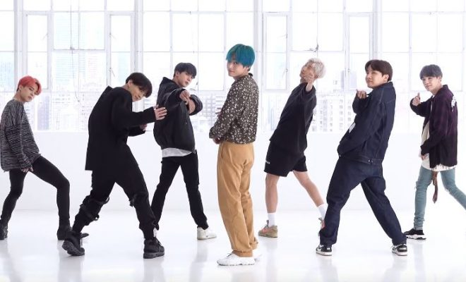 BTS puts their all into their 'Boy With Luv' dance practice